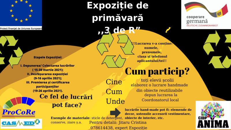 """Lansarea Expoziției de primăvară """"3deR"""" în Crișcăuți/Bocani/Bălășești"""